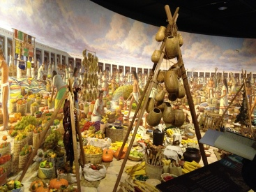 The large diorama on the opposing wall