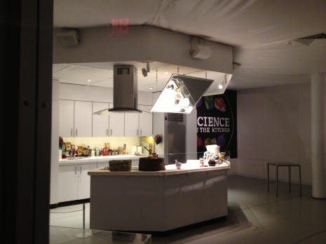 Kitchen in the middle of exhibit.